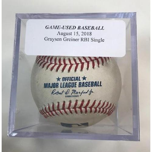 Photo of Game-Used Baseball: Grayson Greiner RBI Single