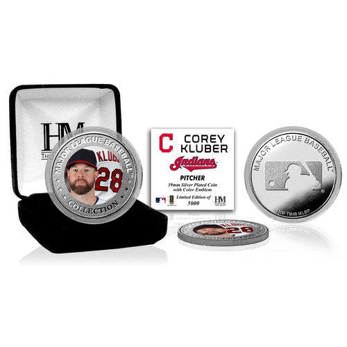 Photo of Corey Kluber Silver Color Coin