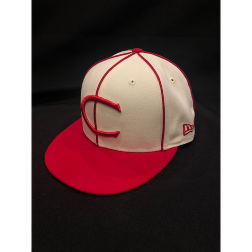 Anthony DeSclafani -- Game-Used Cap -- 1912 Throwback Game -- Dodgers vs. Reds on May 19, 2019