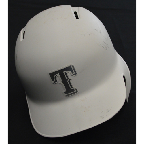 "Photo of Logan ""LOGIE BEAR"" Forsythe Texas Rangers Game-Used 2019 Players' Weekend Helmet"