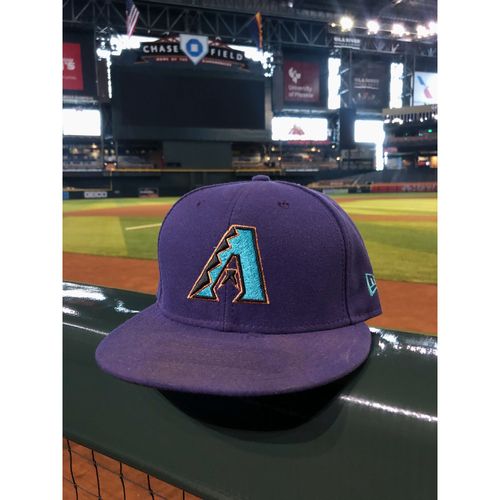 Photo of David Peralta Team-Issued Throwback Cap - 8/29/19 vs. Dodgers