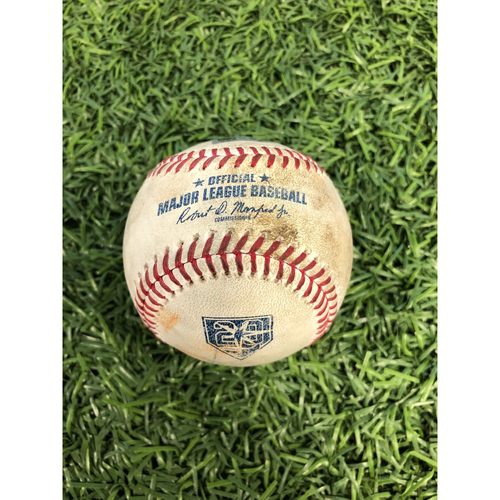 Photo of Game Used Baseball: Joey Wendle single and Matt Duffy foul ball off Rick Porcello - August 25, 2018 v BOS