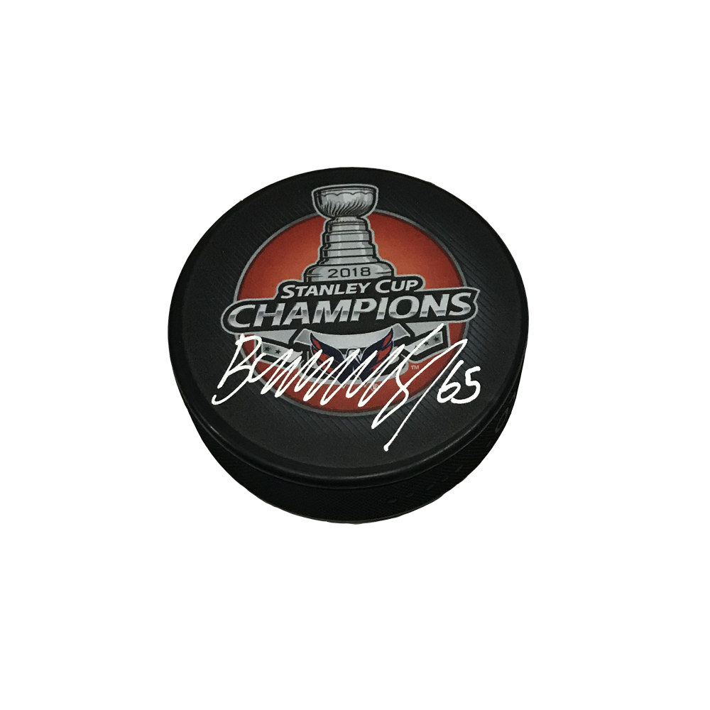 ANDRE BURAKOVSKY Signed 2018 Stanley Cup Champions Puck - Washington Capitals