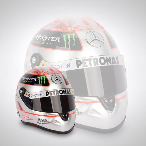 Photo of Michael Schumacher 300th Grand Prix 1:2 Scale Helmet