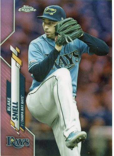 Photo of 2020 Topps Chrome Pink Refractors #68 Blake Snell