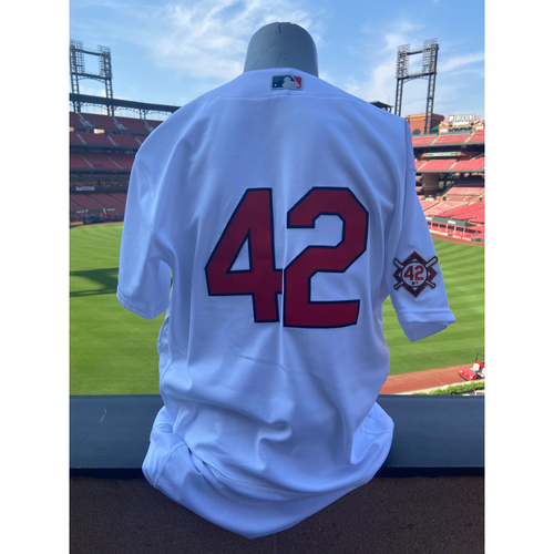 Photo of Cardinals Authentics: Team Issued Mike Maddux Jackie Robinson Day Jersey