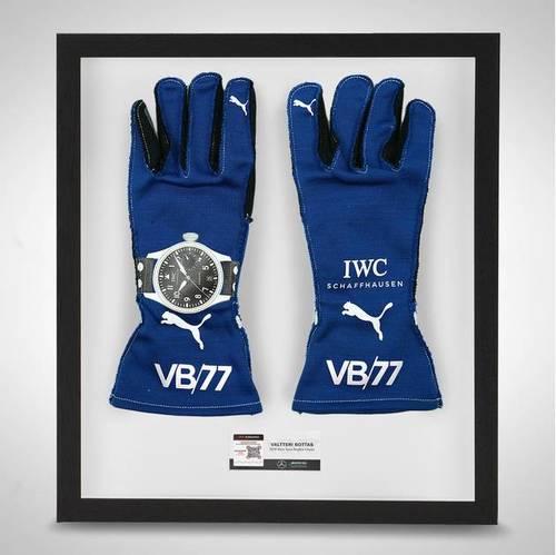 Photo of Valtteri Bottas 2019 Framed Official Race Spec Race Gloves