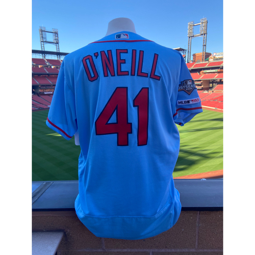 Photo of Cardinals Authentics: Team Issued Tyler O'Neill Road Alternate Jersey