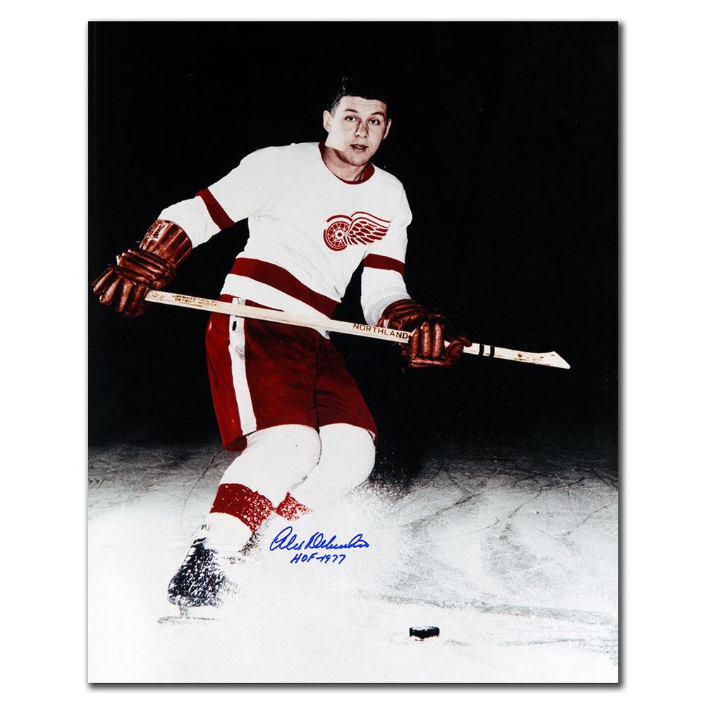 Alex Delvecchio Detroit Red Wings HOF Autographed 16x20