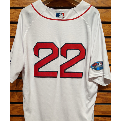 Photo of 2018 Postseason Rick Porcello #22 Team Issued Home White Jersey