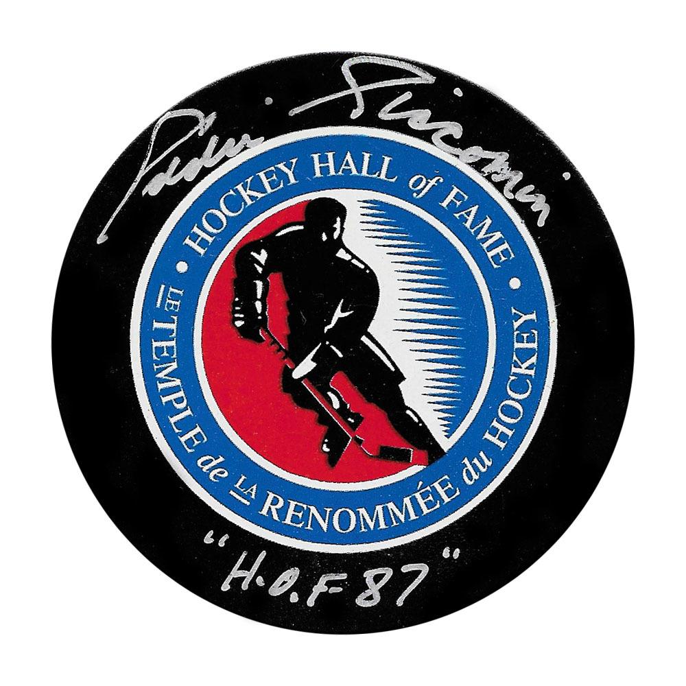 Ed Giacomin Autographed Hockey Hall of Fame Puck