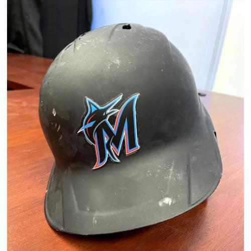 Photo of 2021 Auction: Jesus Aguilar Game-Used Helmet from 2021 Season - Miami Marlins vs. Arizona Diamondbacks 05/04/2021