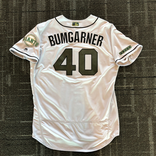 Photo of San Francisco Giants - 2018 Team Issued Memorial Day Jersey - #40 Madison Bumgarner - Size 50