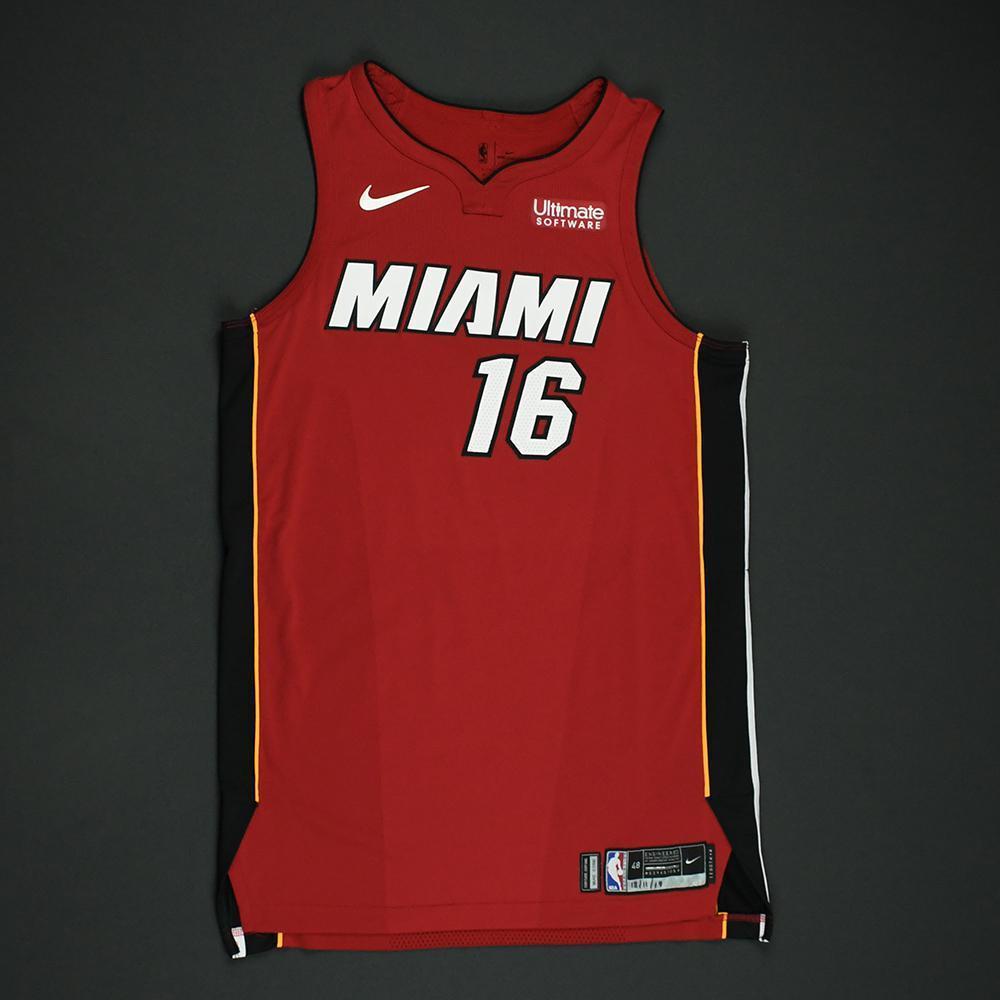 James Johnson - Miami Heat - Game-Worn 'Statement' Jersey - 2017-18 Season