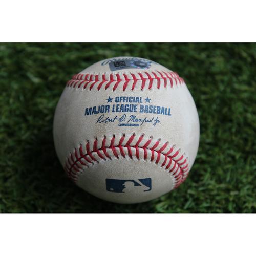 Photo of Game-Used Baseball: Mike Moustakas 28th Homerun of 2017 Season (CWS @ KC - 7/22/17)