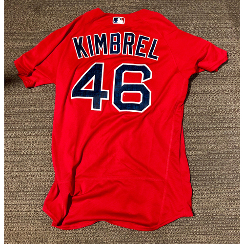 Photo of Boston Red Sox Craig Kimbrel 2016 Game-Used Spring Training Jersey