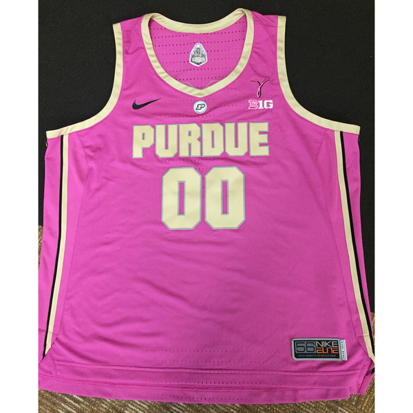 Photo of Purdue Women's Basketball 2018-19 Commemorative Cancer Awareness Pink Jersey #00 / Size 56