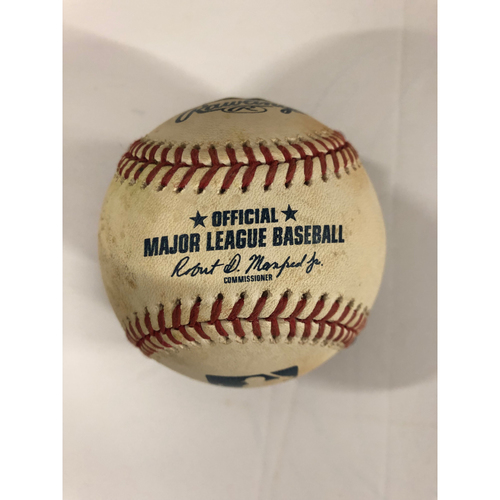 Photo of Ronald Acuna, Jr. Game Used Hit Single Baseball - 2 RBI - 2018 Rookie of the Year