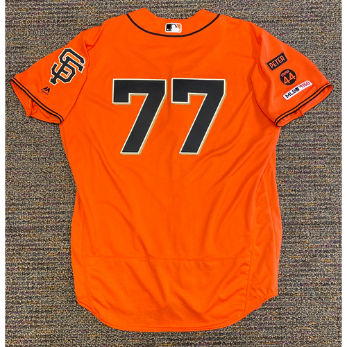 Photo of 2019 Team Issued Orange Home Alt Jersey - #77 Matt Herges - Size 50
