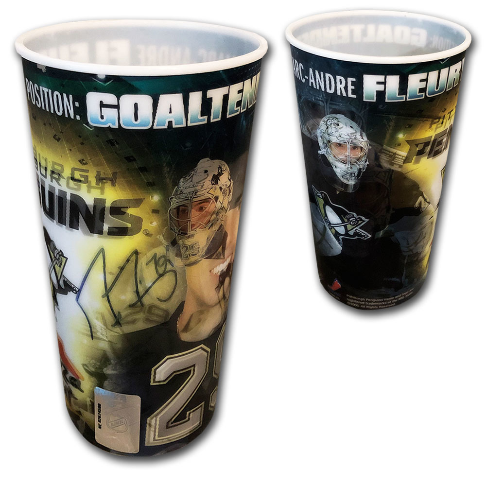 Marc-Andre Fleury Autographed Pizza Hut Collector Cup