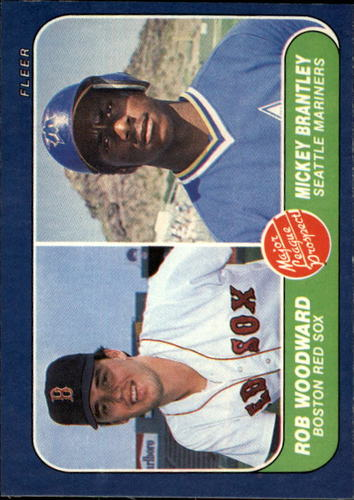 Photo of 1986 Fleer #651 R.Woodward/M.Brantley RC