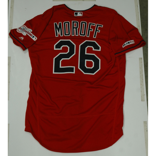 Photo of Max Moroff 2019 Team Issued Alternate Home Jersey
