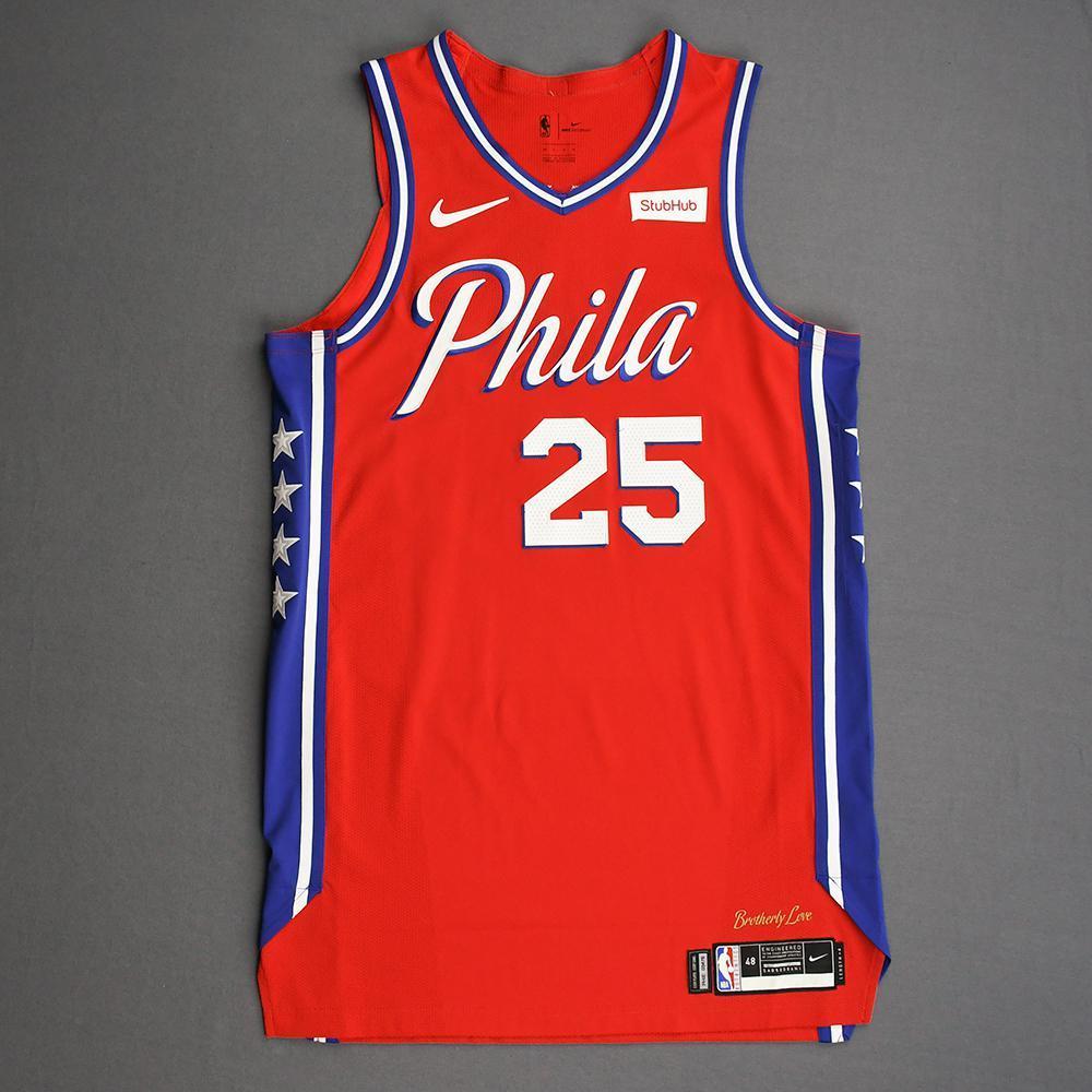Ben Simmons - Philadelphia 76ers - Game-Worn Statement Edition Jersey - 2019-20 Season