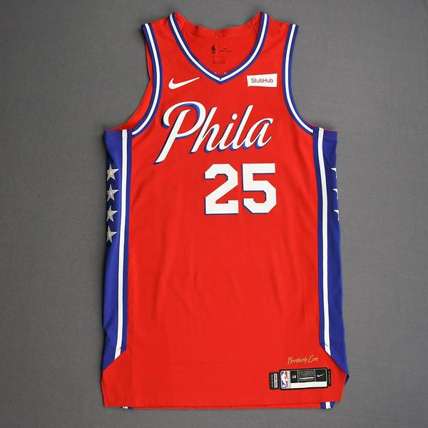 Image of Ben Simmons - Philadelphia 76ers - Game-Worn Statement Edition Jersey - 2019-20 Season