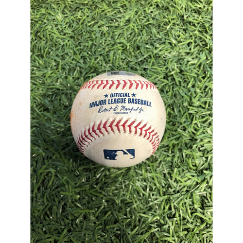 Photo of Game Used Baseball: Joey Rickard triple, Richie Martin RBI single and Pedro Severino foul ball off Adam Kolarek - April 18, 2019 v BAL