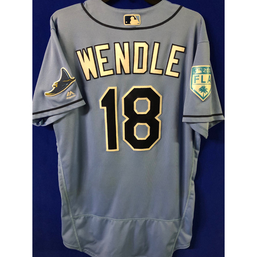 Game Used Spring Training Jersey: Joey Wendle - March 26, 2019 v DET