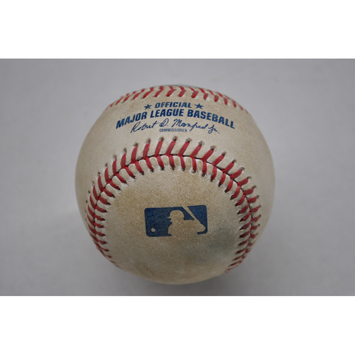 Photo of Game-Used Baseball - 2020 ALCS - Tampa Bay Rays vs. Houston Astros - Game 3 - Pitcher: Ryan Yarbrough, Batter: Michael Brantley (Home Run to LF) - Bot 6