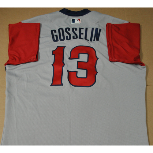 Photo of Game-used Jersey - 2021 Little League Classic - Los Angeles Angels vs. Cleveland Indians - 8/22/2021 - West, Phil Gosselin #13