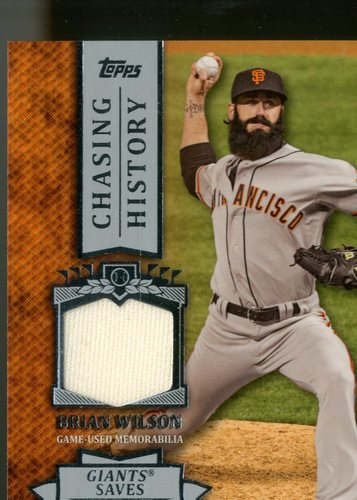 Photo of 2013 Topps Chasing History Relics #BW Brian Wilson