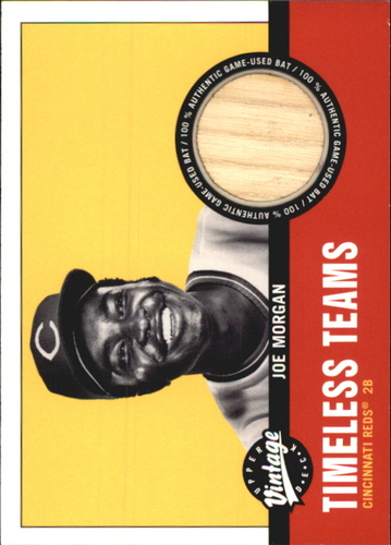 Photo of 2001 Upper Deck Vintage Timeless Teams #CI2JM Joe Morgan Bat