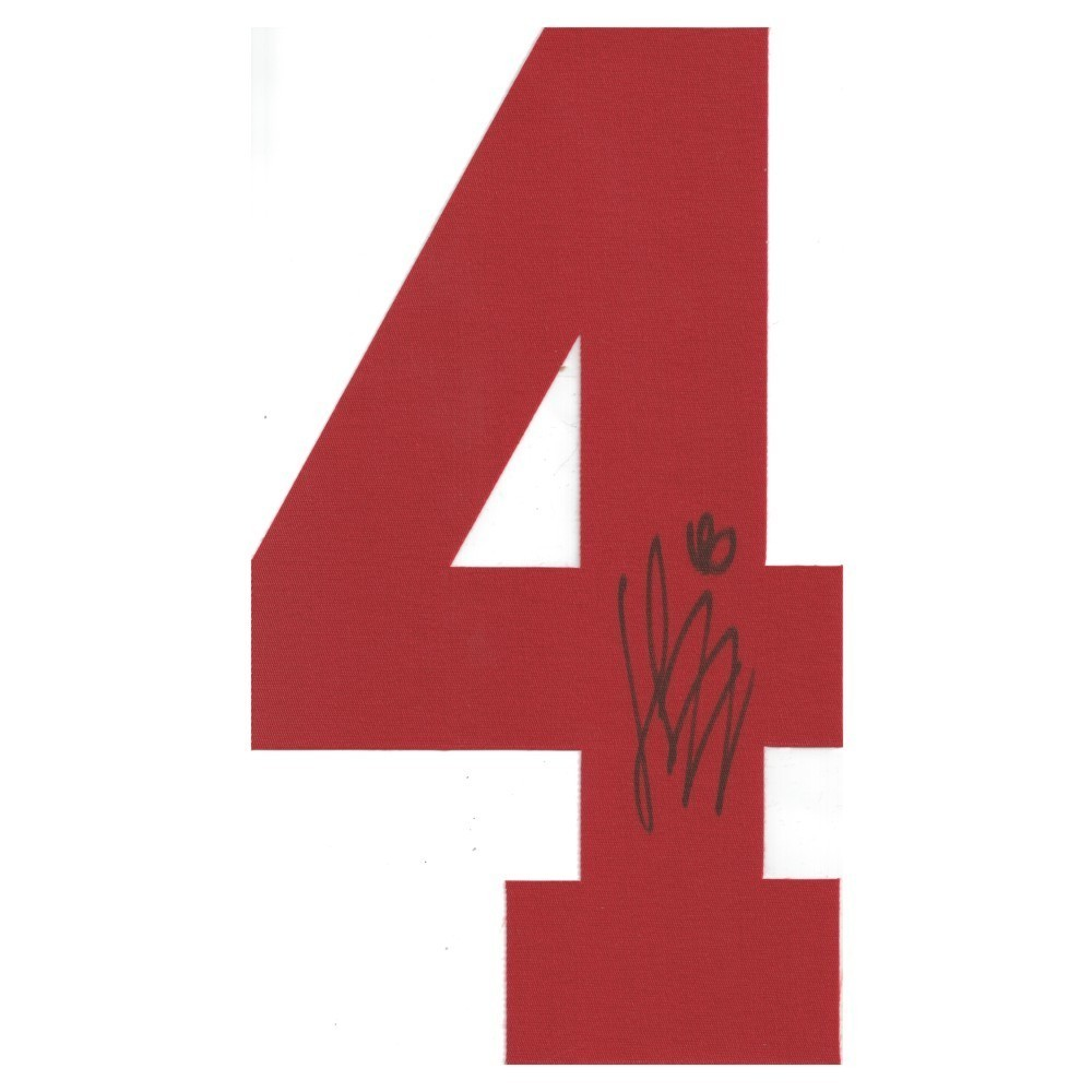 Henrik Zetterberg Autographed Detroit Red Wings Twill Jersey Number