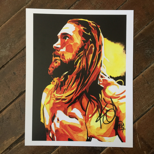 Photo of Kassius Ohno SIGNED 11 x 14 Rob Schamberger Print