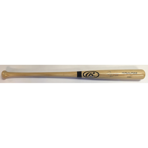 "Photo of Paul Molitor ""93 WS MVP"" Autographed Rawlings Bat"