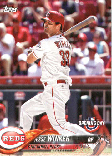 Photo of 2018 Topps Opening Day #157 Jesse Winker