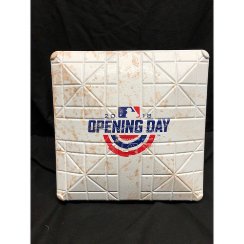 Photo of 2018 Opening Day Game-Used Base -- WSH vs. CIN on 3/30/18