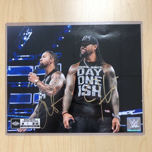 Photo of The Usos SIGNED 8 x 10 Limited Edition WrestleMania Photo (#1 of 34)