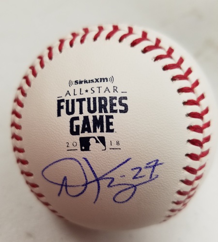 Photo of Andrew Knizer Autographed 2018 Futures Logo Baseball
