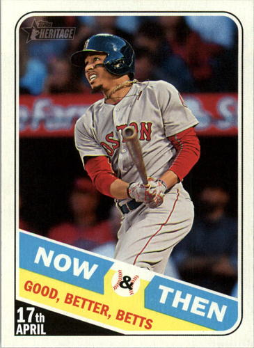 Photo of 2018 Topps Heritage Now and Then #NT7 Mookie Betts