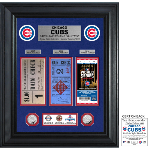 Photo of Chicago Cubs World Series Deluxe Silver Coin & Ticket Collection