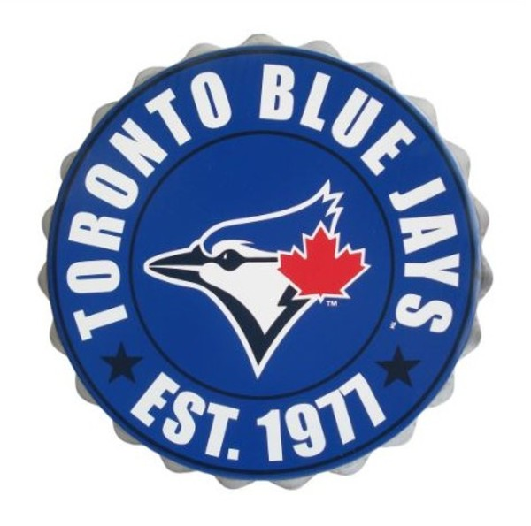 Toronto Blue Jays Bottle Cap Wall Hanging by Forever Collectibles