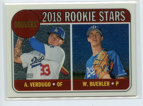 Photo of 2018 Topps Heritage Chrome #THC266 Walker Buehler/Alex Verdugo 764/999