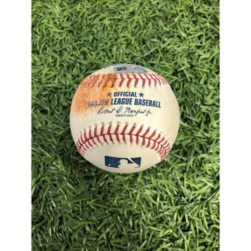 Photo of Game Used Baseball: Billy Hamilton RBI double off Ryan Yarbrough - April 24, 2019 v KC