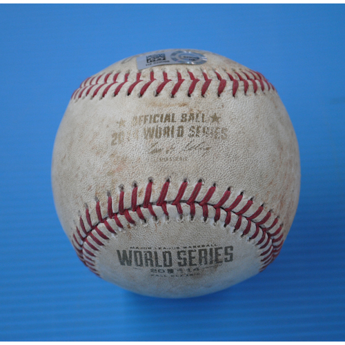 Photo of Game-Used Baseball - 2014 World Series - Game 5 - Pitcher: James Shields, Batter: Pablo Sandoval - Single to LF - 4th Inning