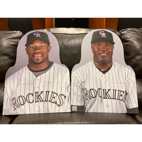 Photo of Colorado Rockies Foundation: Eric Young Jr.  and Eric Young Sr. Carboard Cutout Set