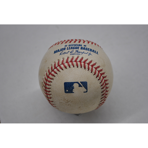 Photo of Game-Used Baseball - 2020 ALCS - Tampa Bay Rays vs. Houston Astros - Game 4 - Pitcher: Tyler Glasnow, Batter: Jose Altuve (Home Run to LF) - Bot 1