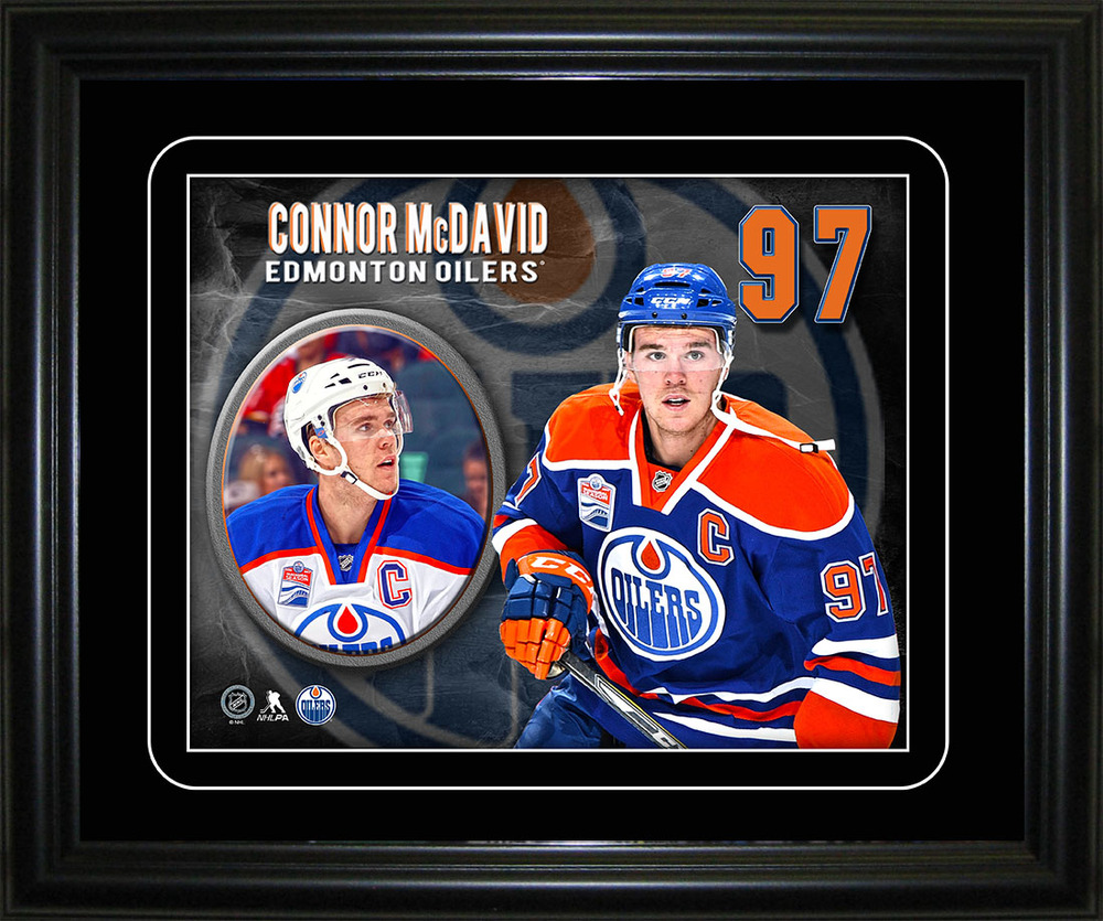 Connor McDavid - Framed Oilers Captain Player Portrait